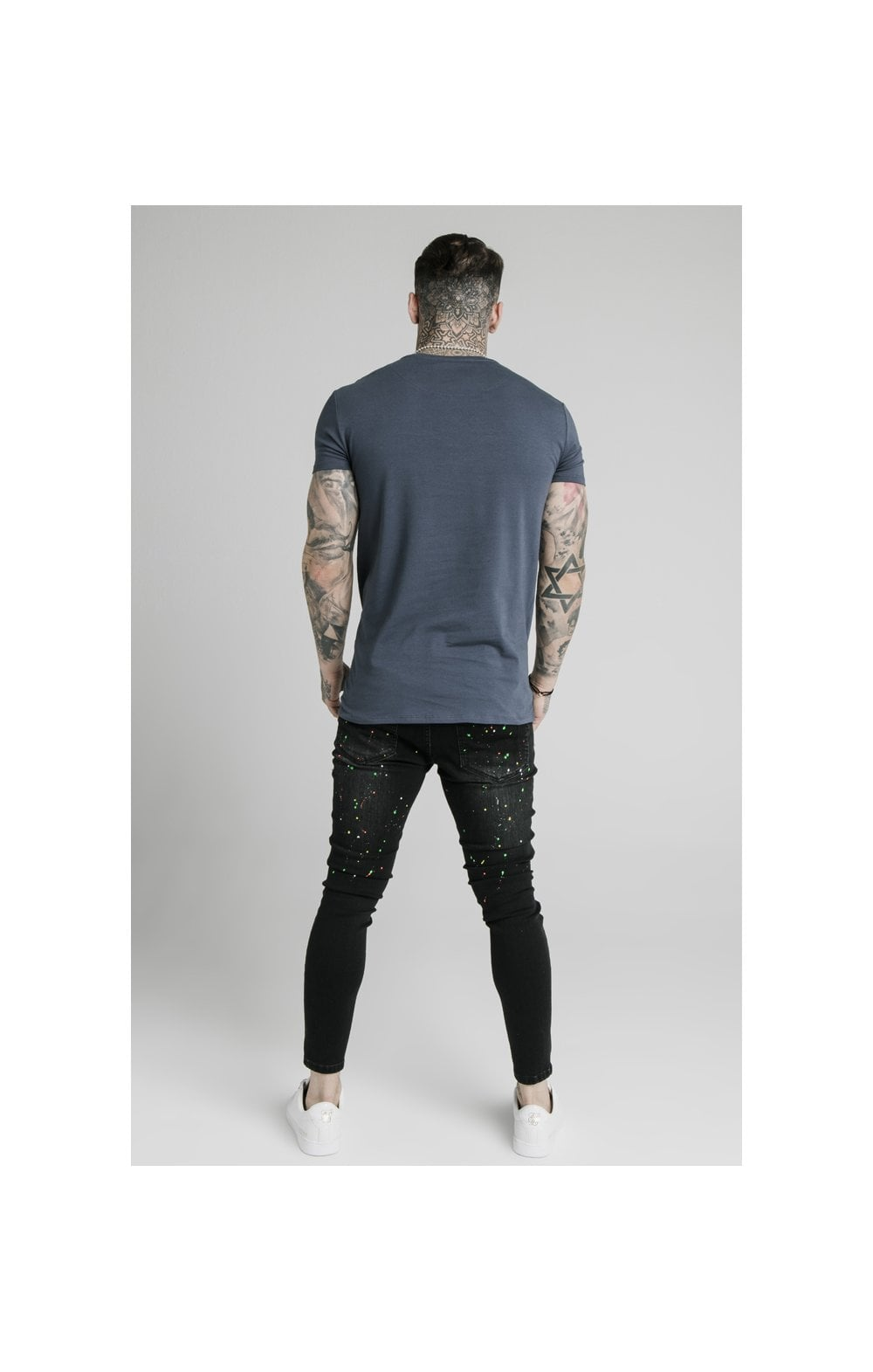 Load image into Gallery viewer, SikSilk S/S Astro Gym Tee - Cosmic Slate (5)