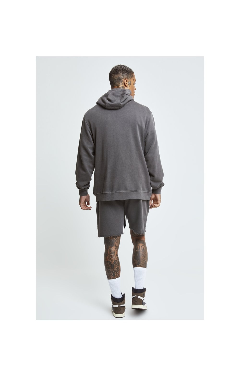 SikSilk X Steve Aoki Relaxed Shorts - Washed Grey (1)