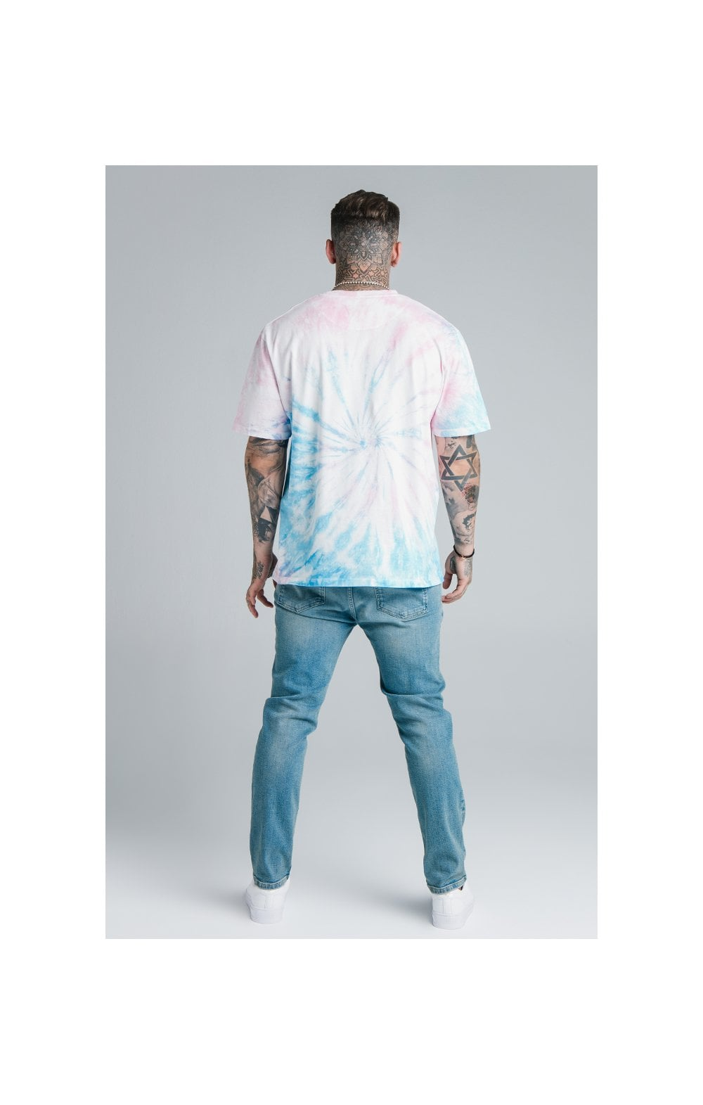 Load image into Gallery viewer, SikSilk X Steve Aoki Loose Fit Riot Denims - Light Wash (6)