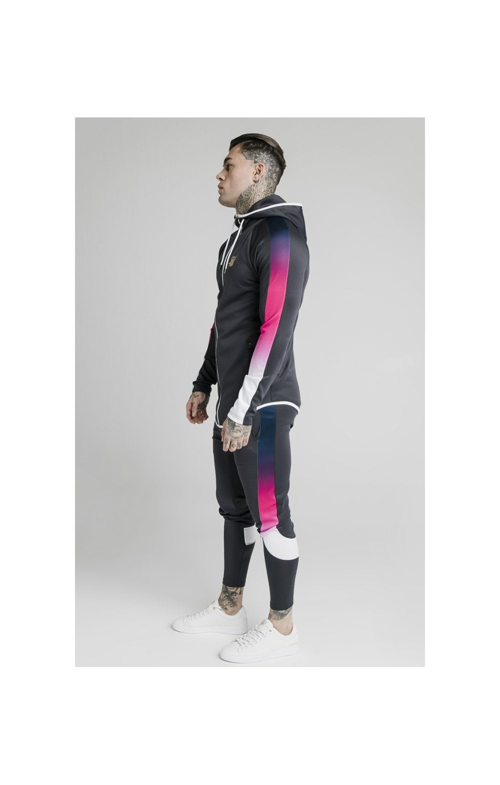 SikSilk Advanced Tech Zip Through Hoodie - Midnight Grey (2)