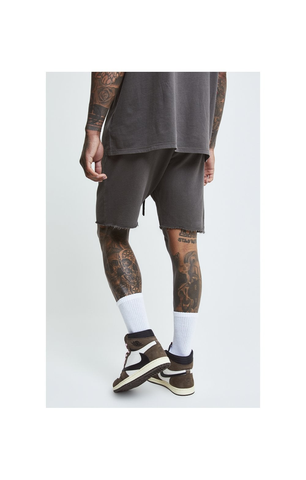SikSilk X Steve Aoki Relaxed Shorts - Washed Grey (2)