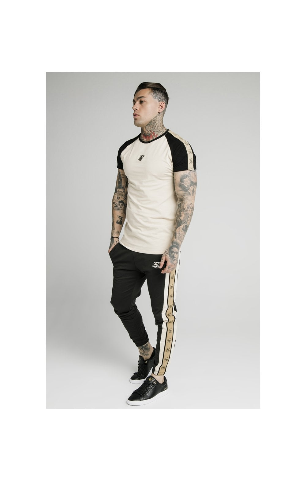 Load image into Gallery viewer, SikSilk Premium Tape Track Pant - Anthracite (2)