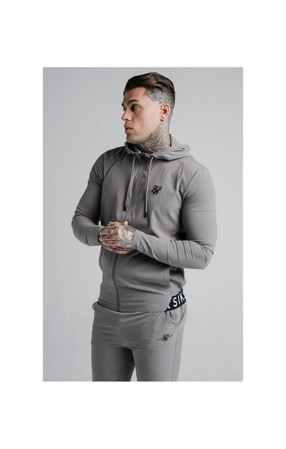 Load image into Gallery viewer, SikSilk RipStop Agility Zip Through Hoodie – Grey (1)