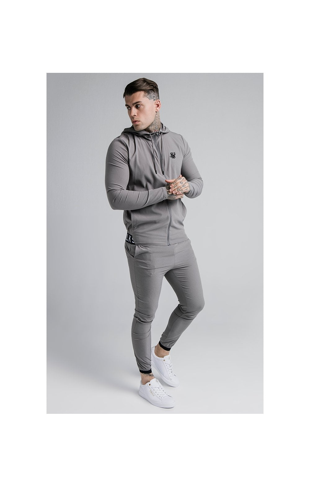 Load image into Gallery viewer, SikSilk RipStop Agility Zip Through Hoodie – Grey (2)