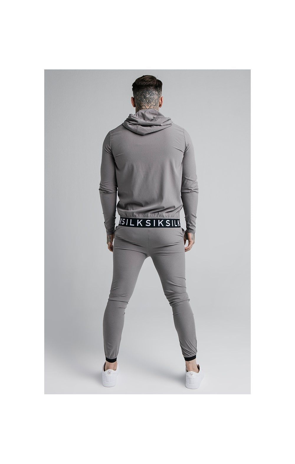 Load image into Gallery viewer, SikSilk RipStop Agility Zip Through Hoodie – Grey (4)