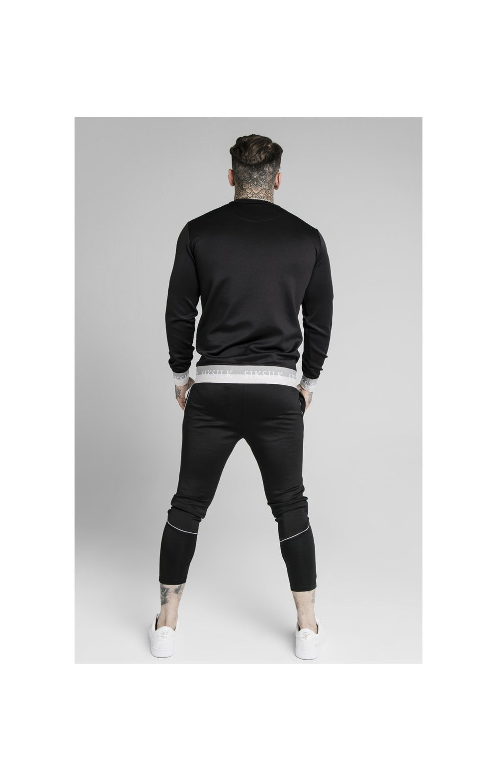 SikSilk Deluxe Crew Sweat - Black (2)