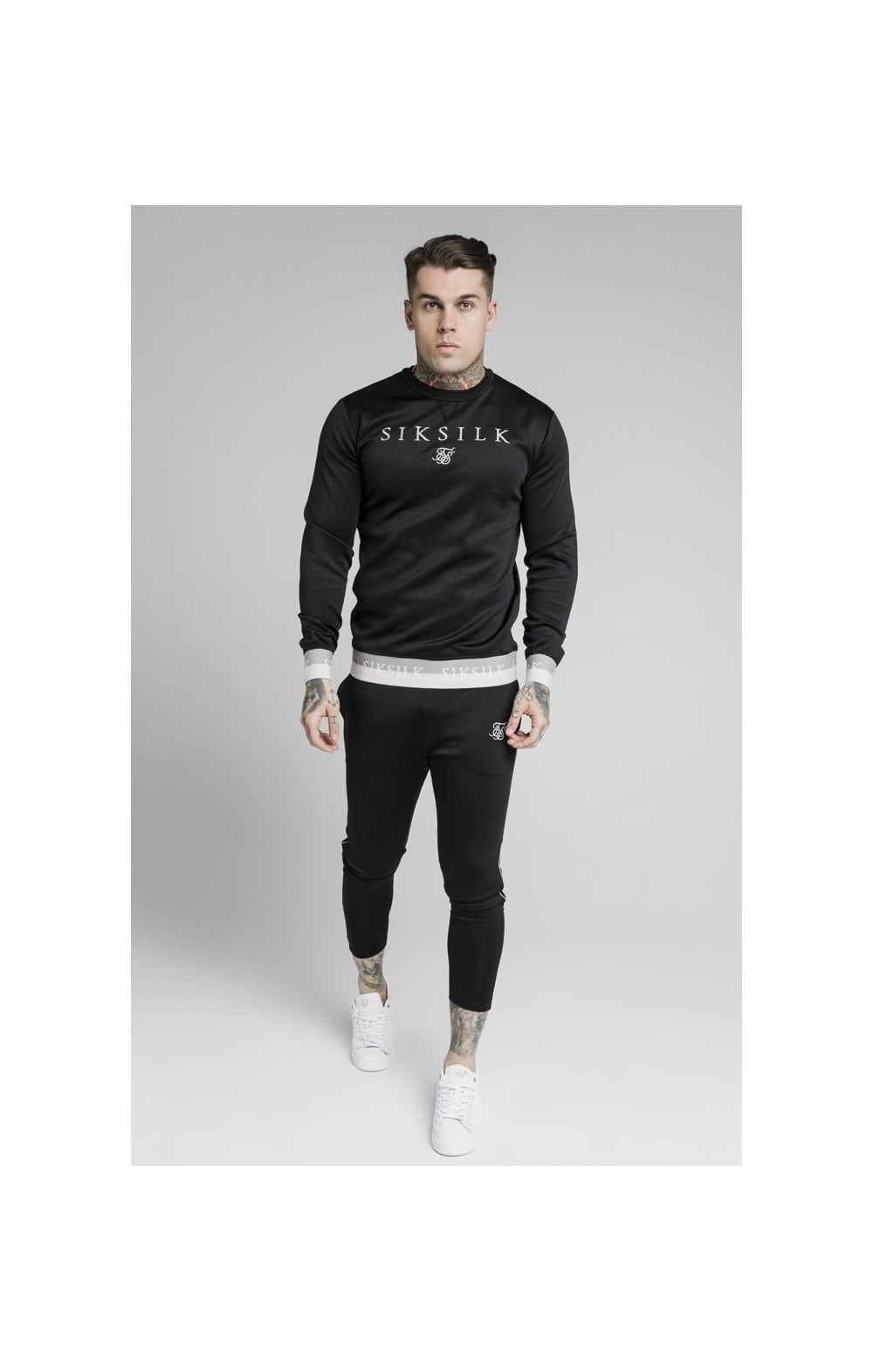 SikSilk Deluxe Crew Sweat - Black (3)
