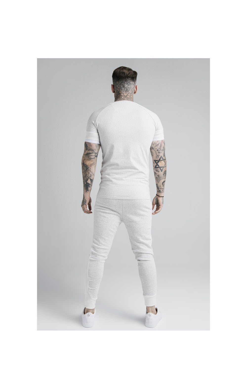 Load image into Gallery viewer, SikSilk Unite Rib Raglan Gym Tee - White (4)