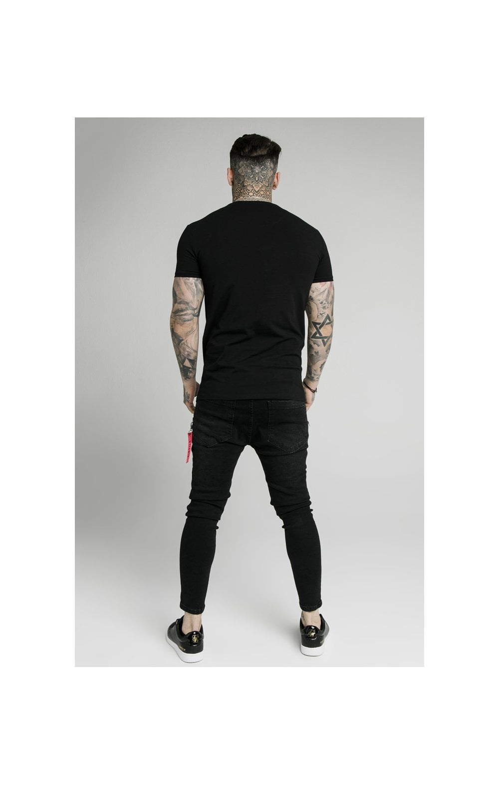 Load image into Gallery viewer, SikSilk S/S Fade Prestige Gym Tee - Black (4)
