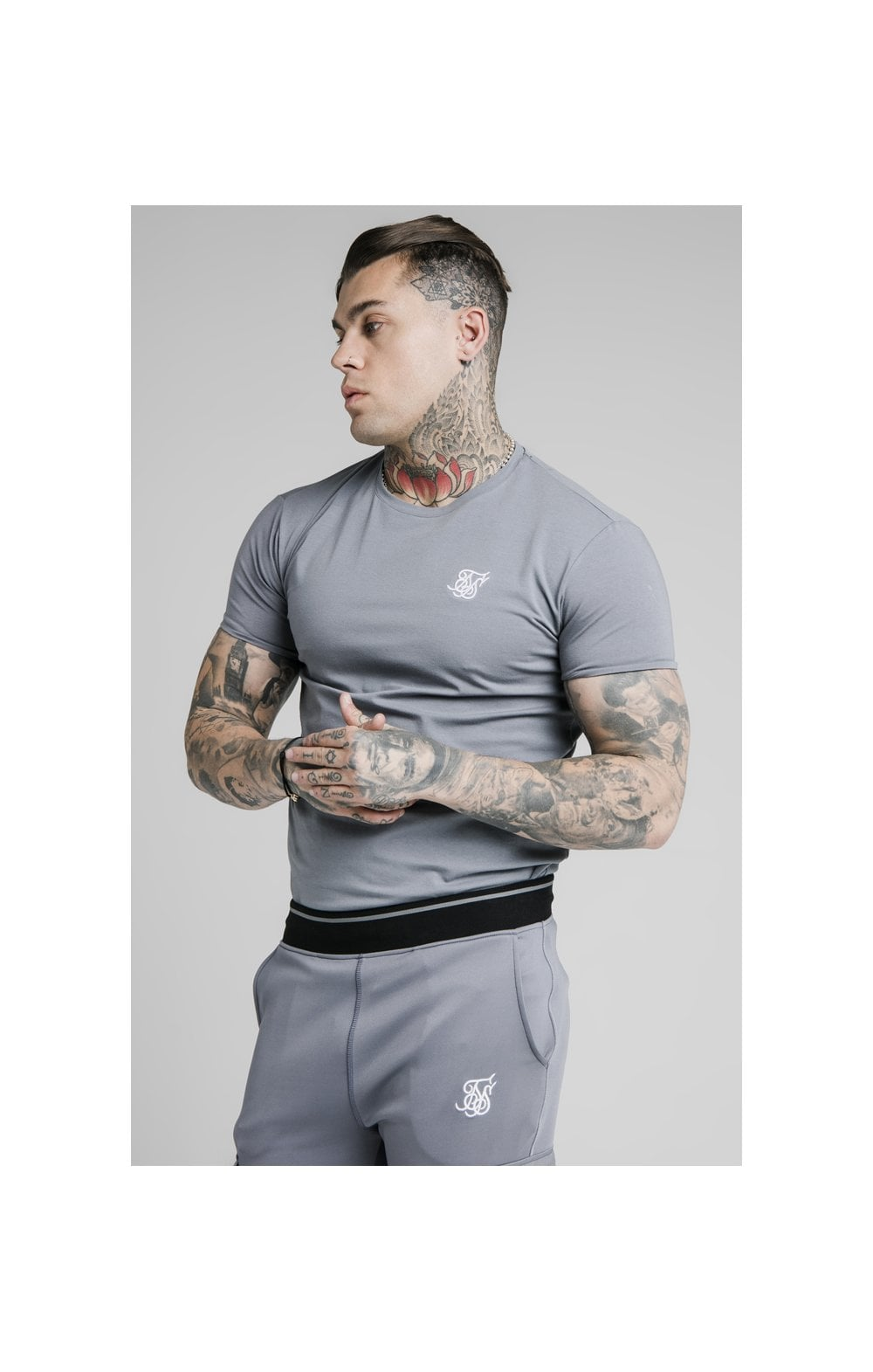 Load image into Gallery viewer, SikSilk S/S Gym Tee – Slate (1)