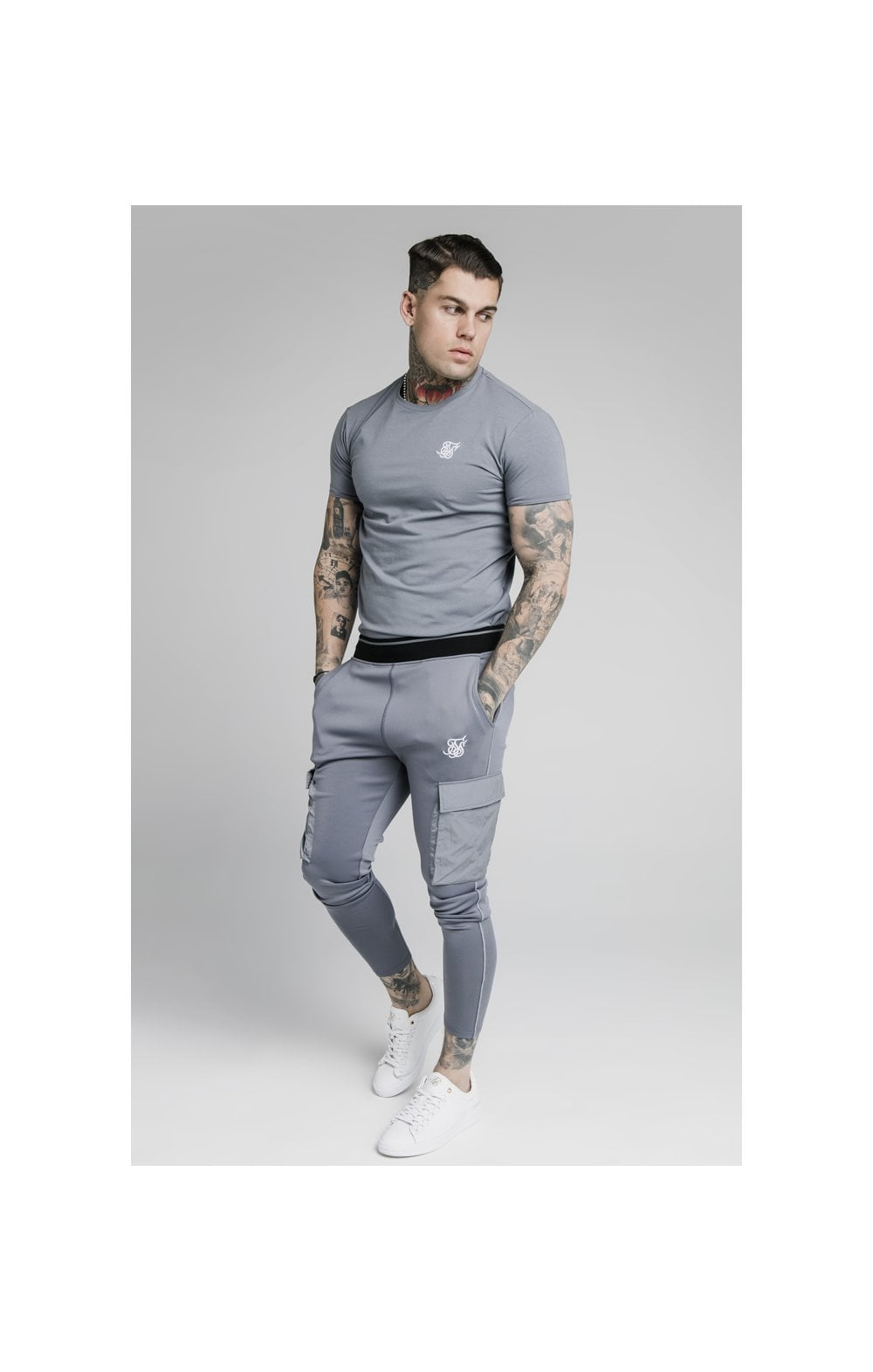 Load image into Gallery viewer, SikSilk S/S Gym Tee – Slate (2)