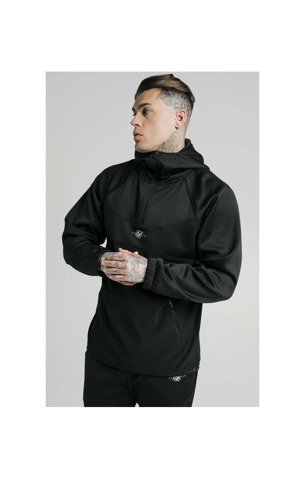 Load image into Gallery viewer, SikSilk Tranquil Quarter Zip Vent Pullover - Black