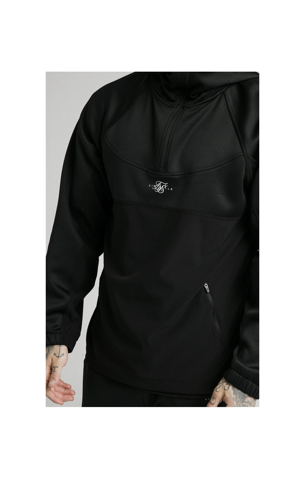 Load image into Gallery viewer, SikSilk Tranquil Quarter Zip Vent Pullover - Black (1)