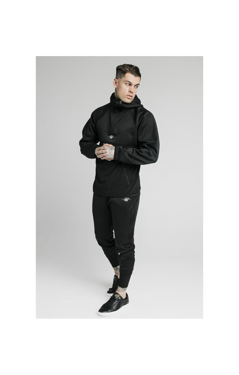 Load image into Gallery viewer, SikSilk Tranquil Quarter Zip Vent Pullover - Black (2)