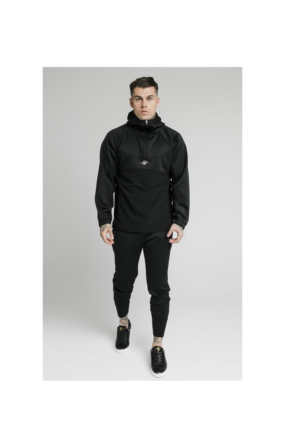 Load image into Gallery viewer, SikSilk Tranquil Quarter Zip Vent Pullover - Black (4)