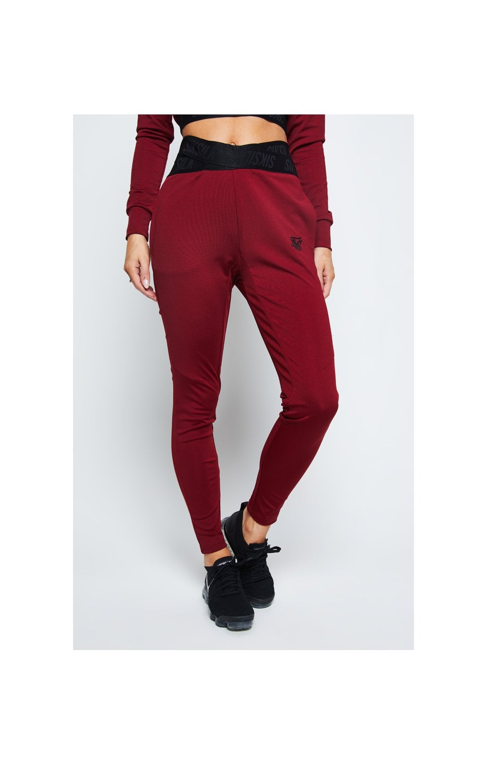 SikSilk Gym Track Pants – Red