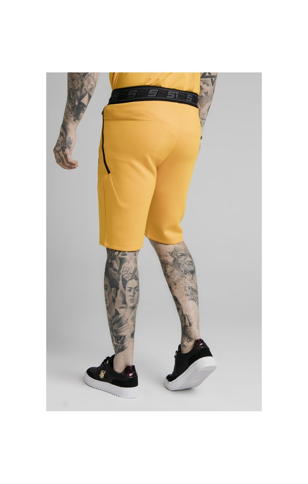 Load image into Gallery viewer, SikSilk Exhibit Function Shorts - Yellow (1)