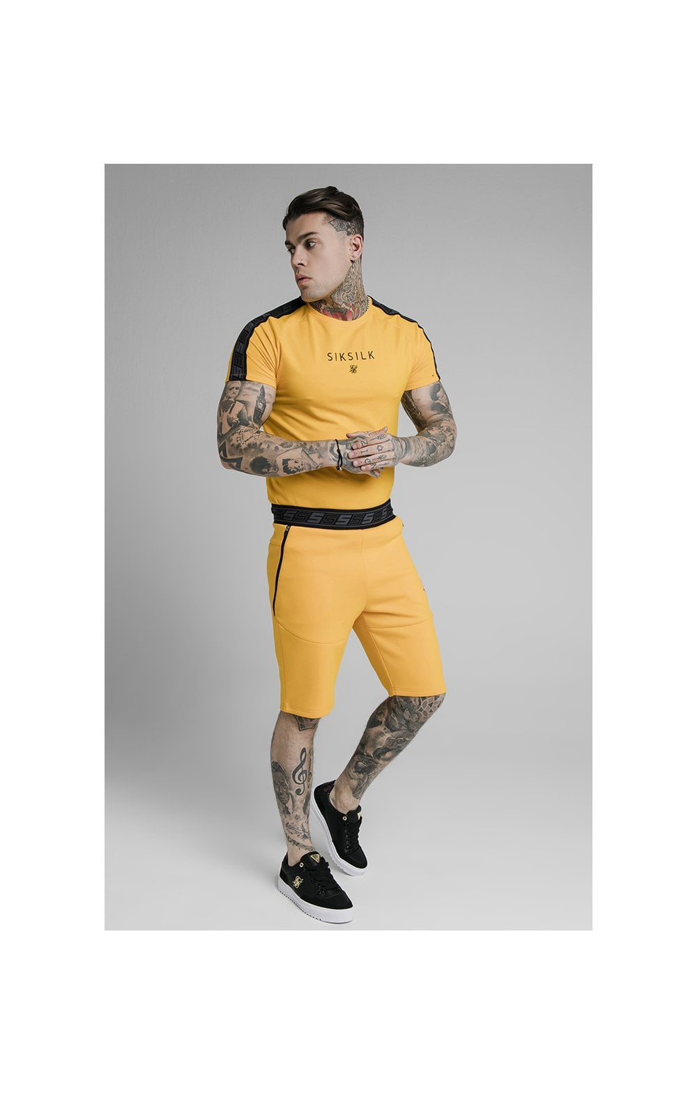 Load image into Gallery viewer, SikSilk Exhibit Function Shorts - Yellow (2)