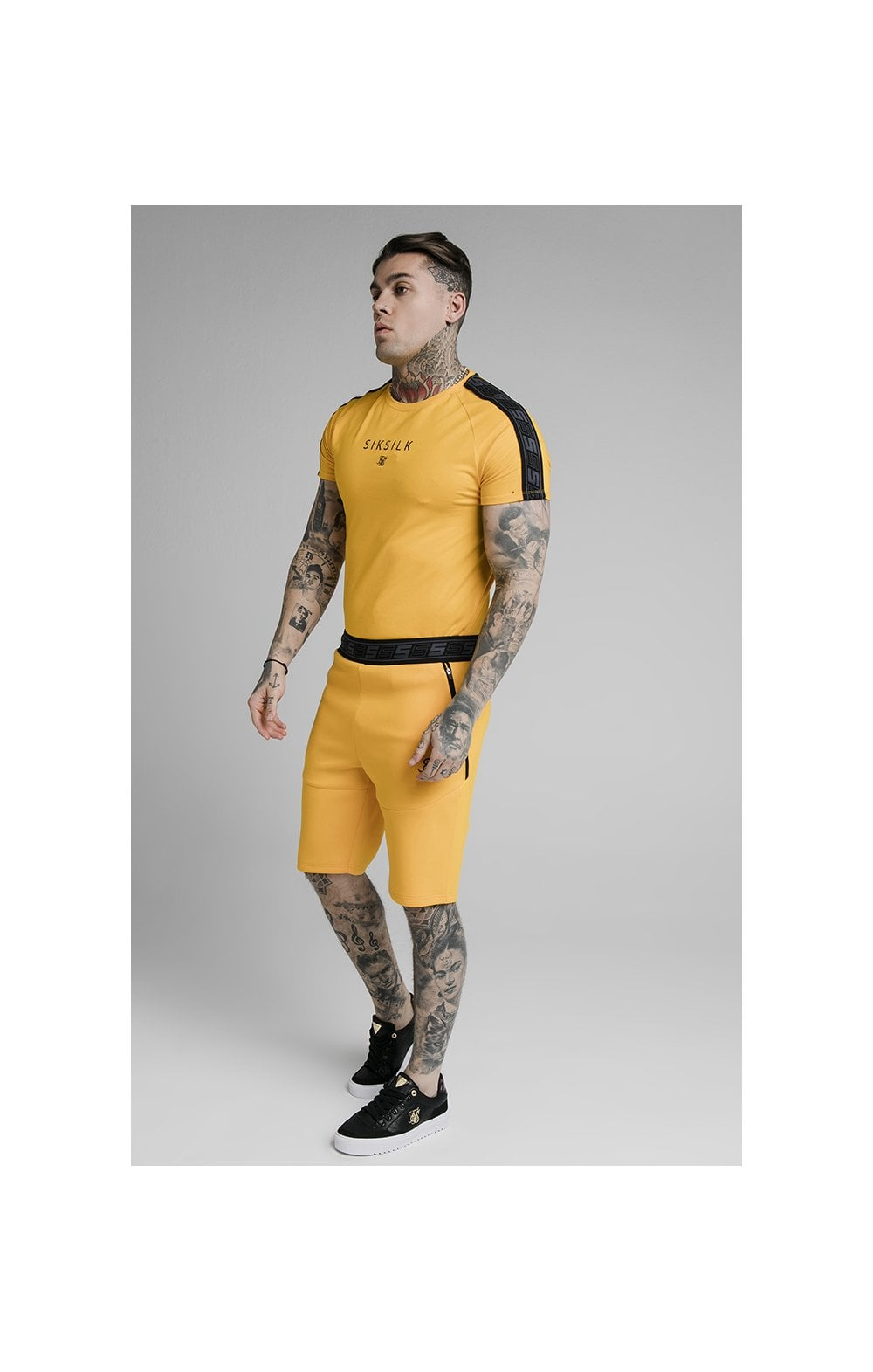 Load image into Gallery viewer, SikSilk Exhibit Function Shorts - Yellow (4)