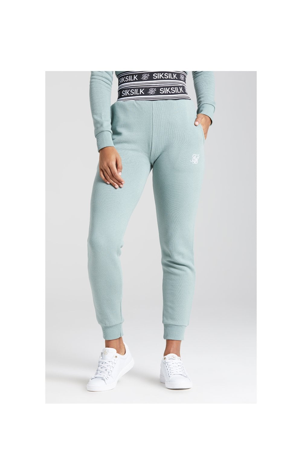 Load image into Gallery viewer, SikSilk Logo Ribbed Track Pant - Sage