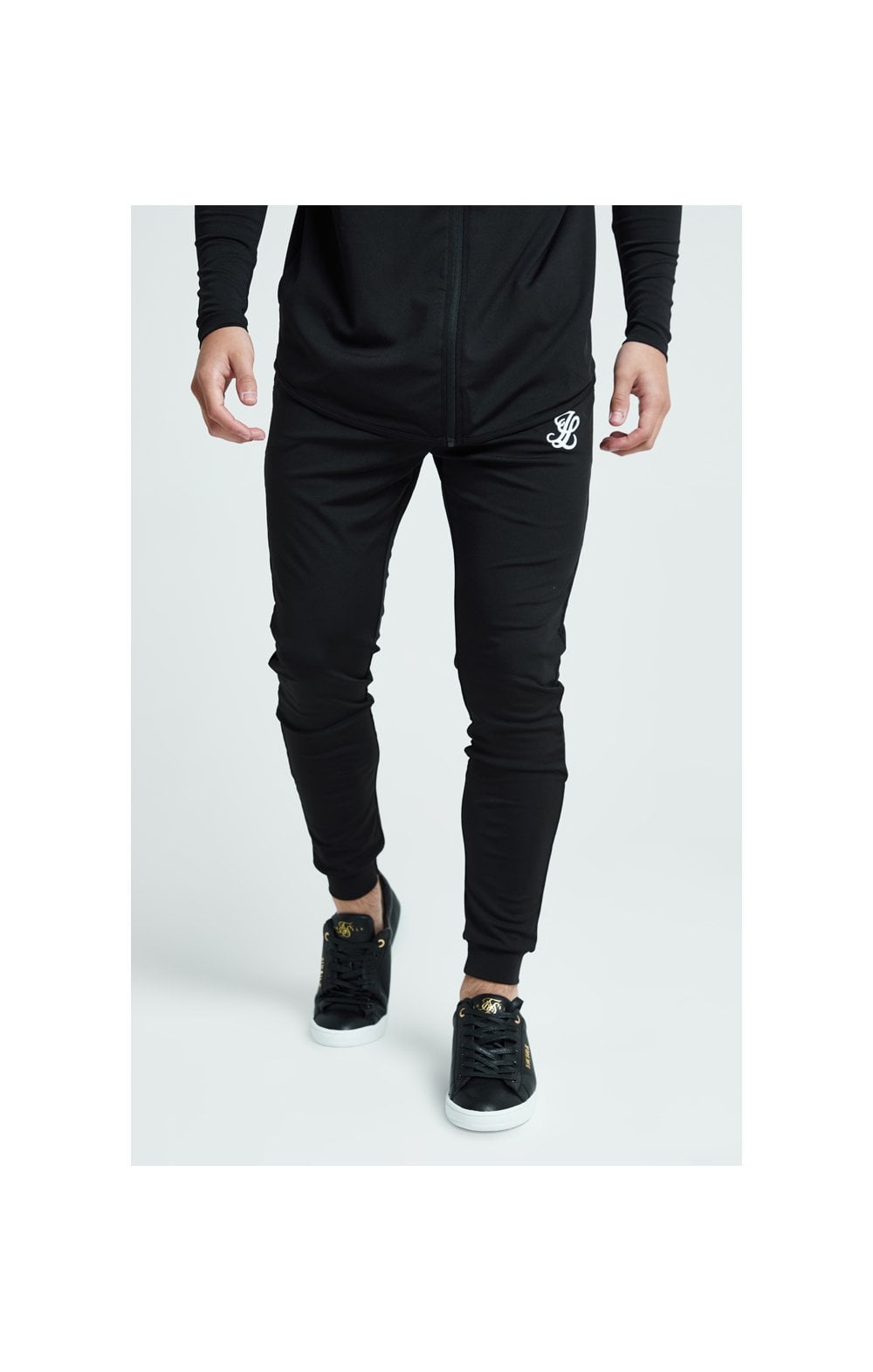 Load image into Gallery viewer, Illusive London Core Fitted Joggers - Black