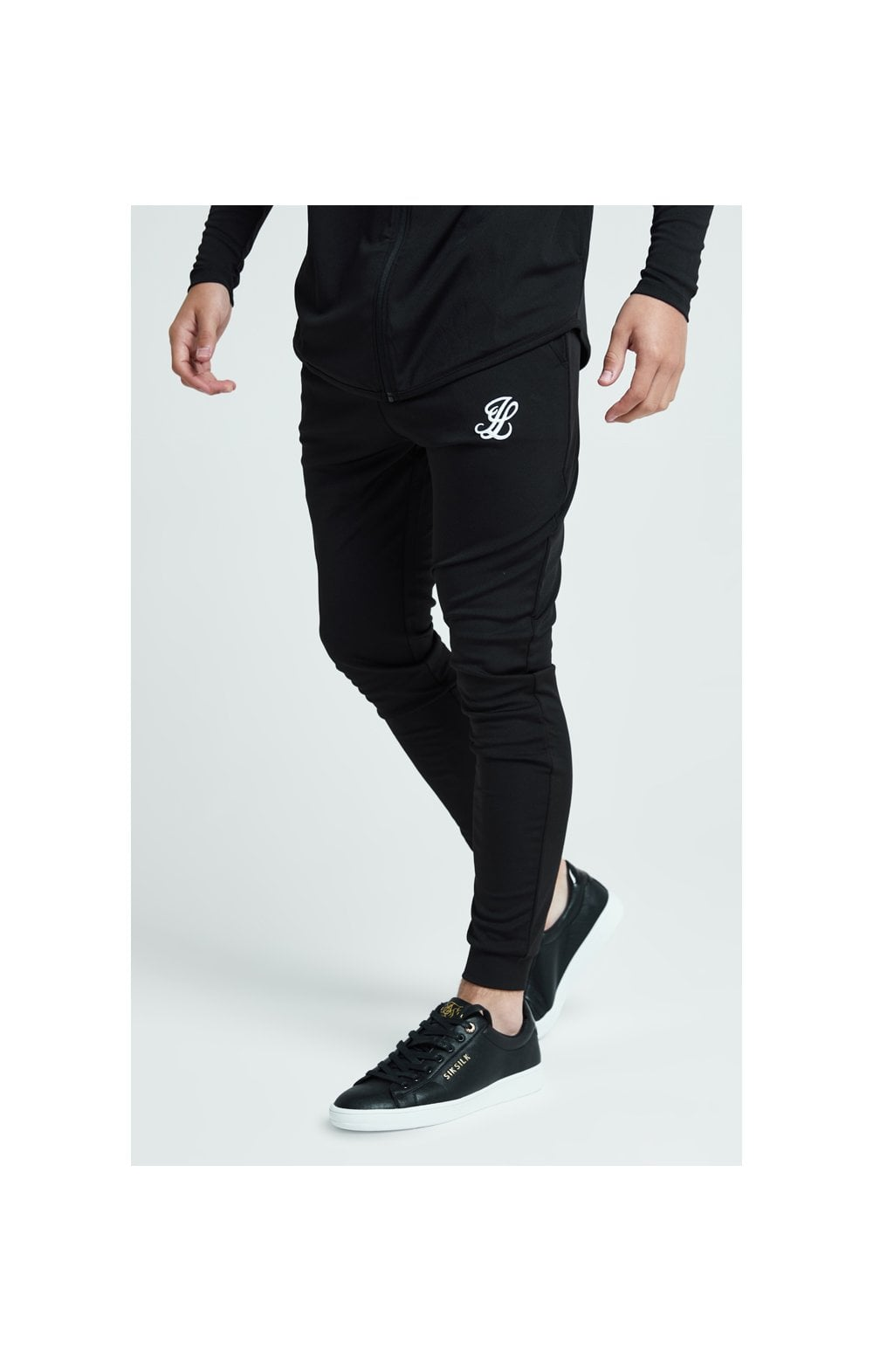 Load image into Gallery viewer, Illusive London Core Fitted Joggers - Black (1)