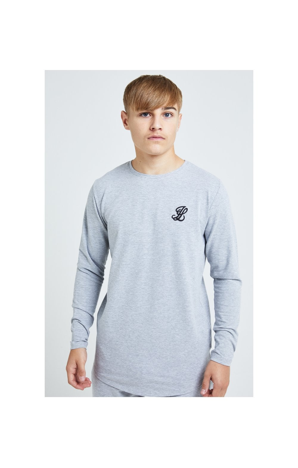 Illusive London L/S Core Tee - Grey Marl