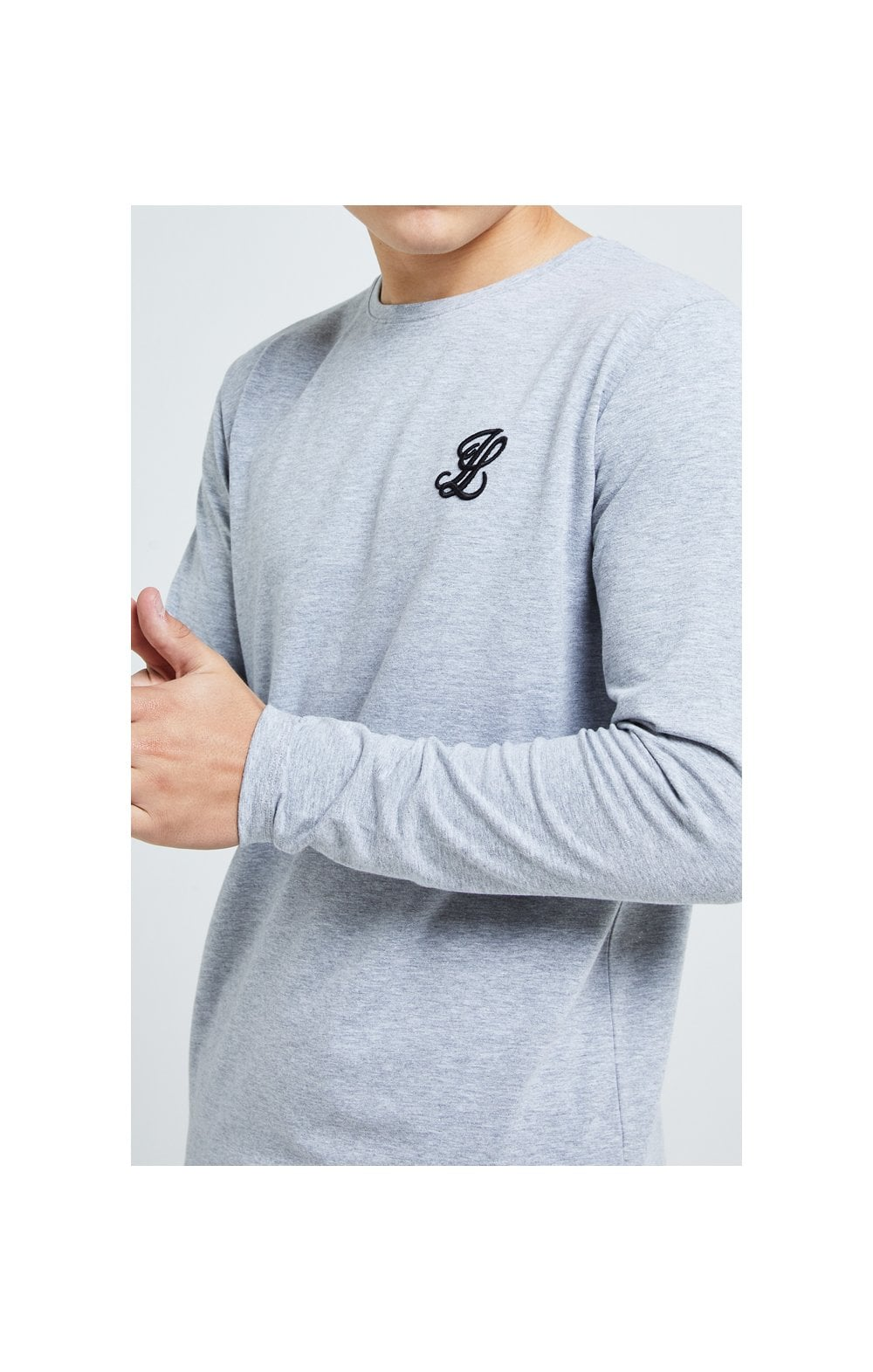 Illusive London L/S Core Tee - Grey Marl (2)