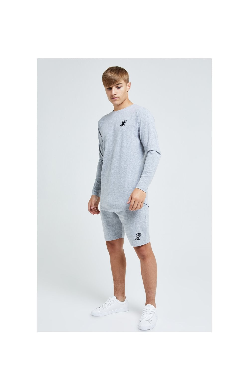Illusive London L/S Core Tee - Grey Marl (3)