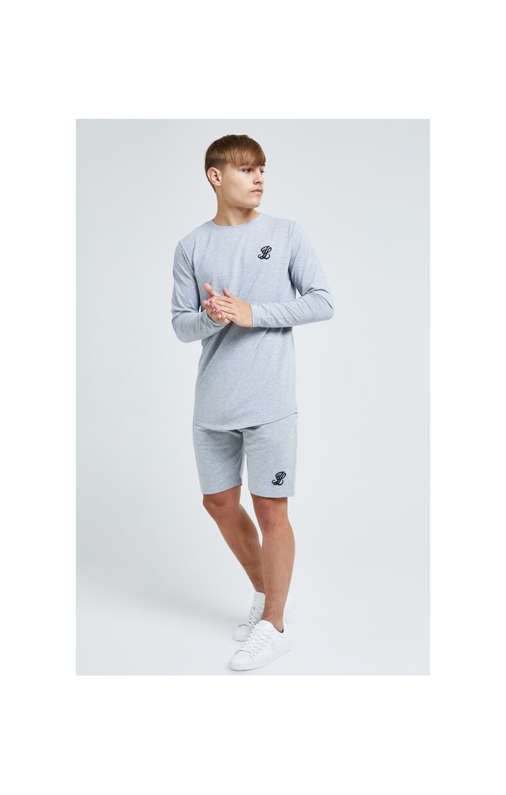 Load image into Gallery viewer, Illusive London L/S Core Tee - Grey Marl (4)