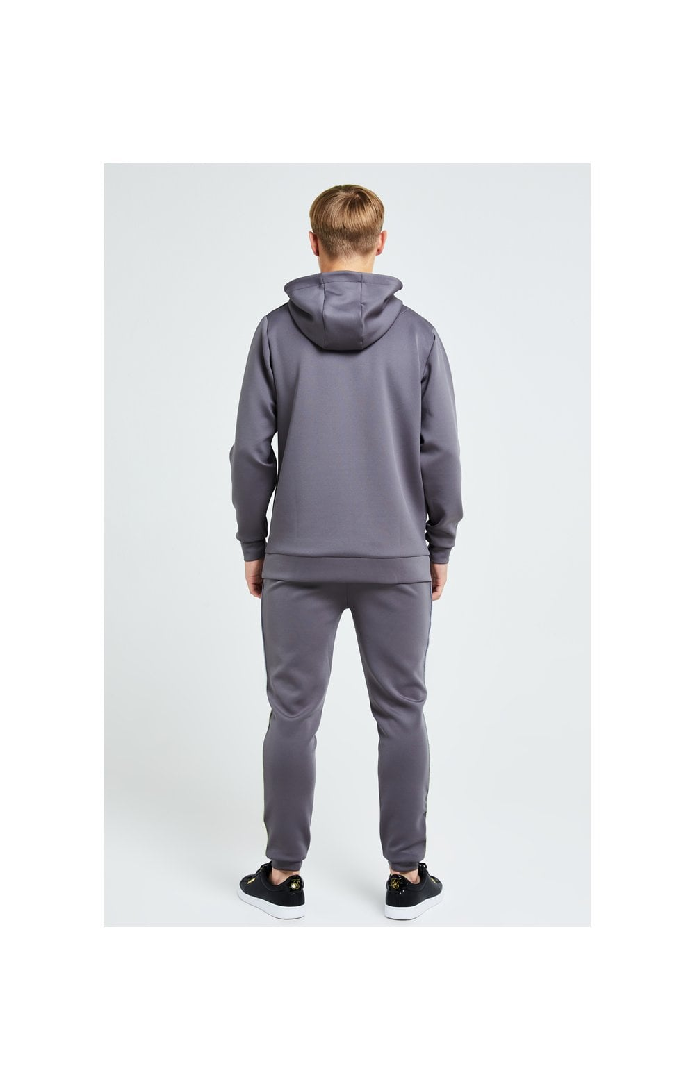 Load image into Gallery viewer, Illusive London Blaze Overhead Hoodie - Dark Grey & Lime (5)