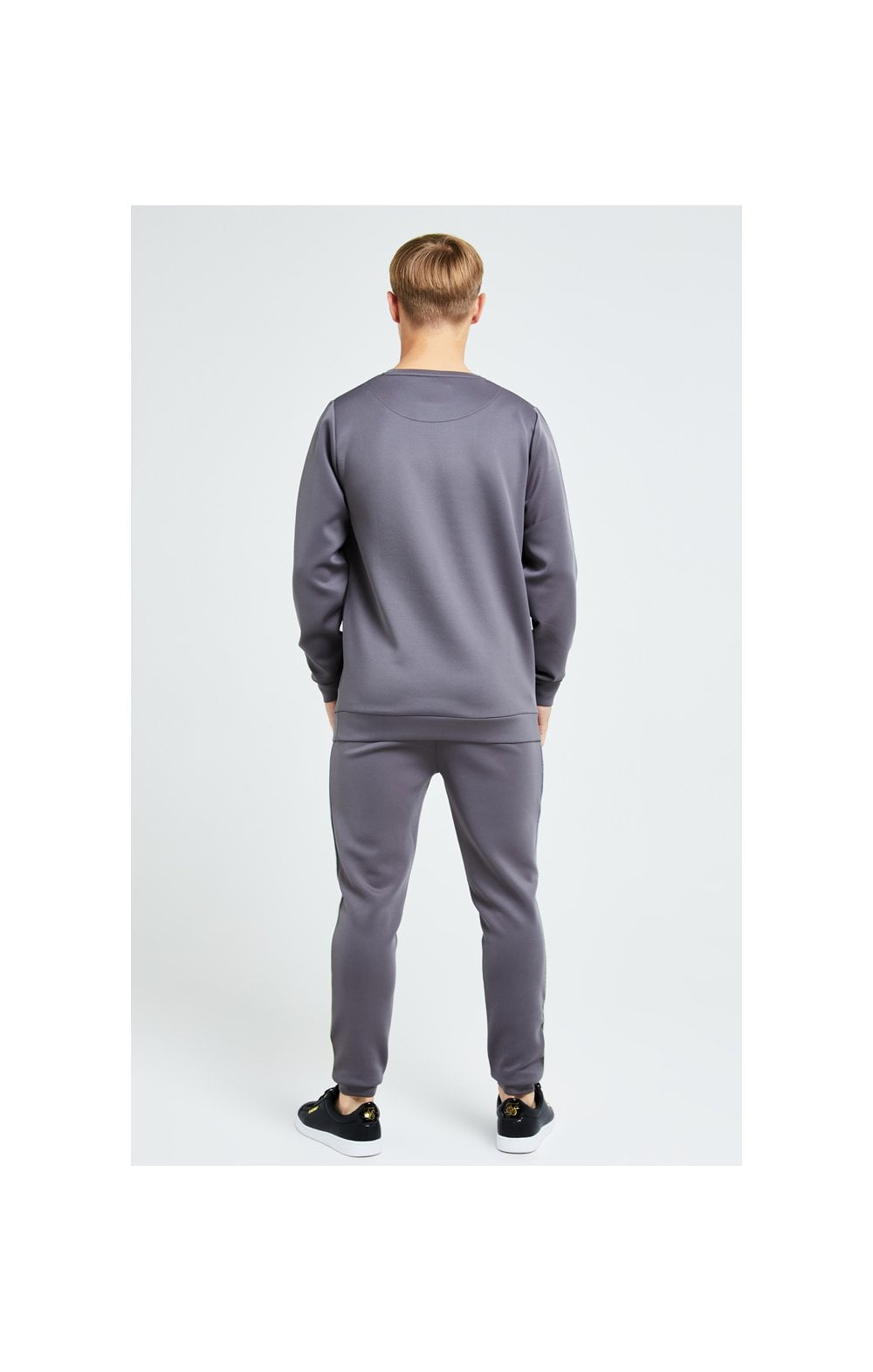 Load image into Gallery viewer, Illusive London Blaze Crew Sweater - Dark Grey & Lime (4)