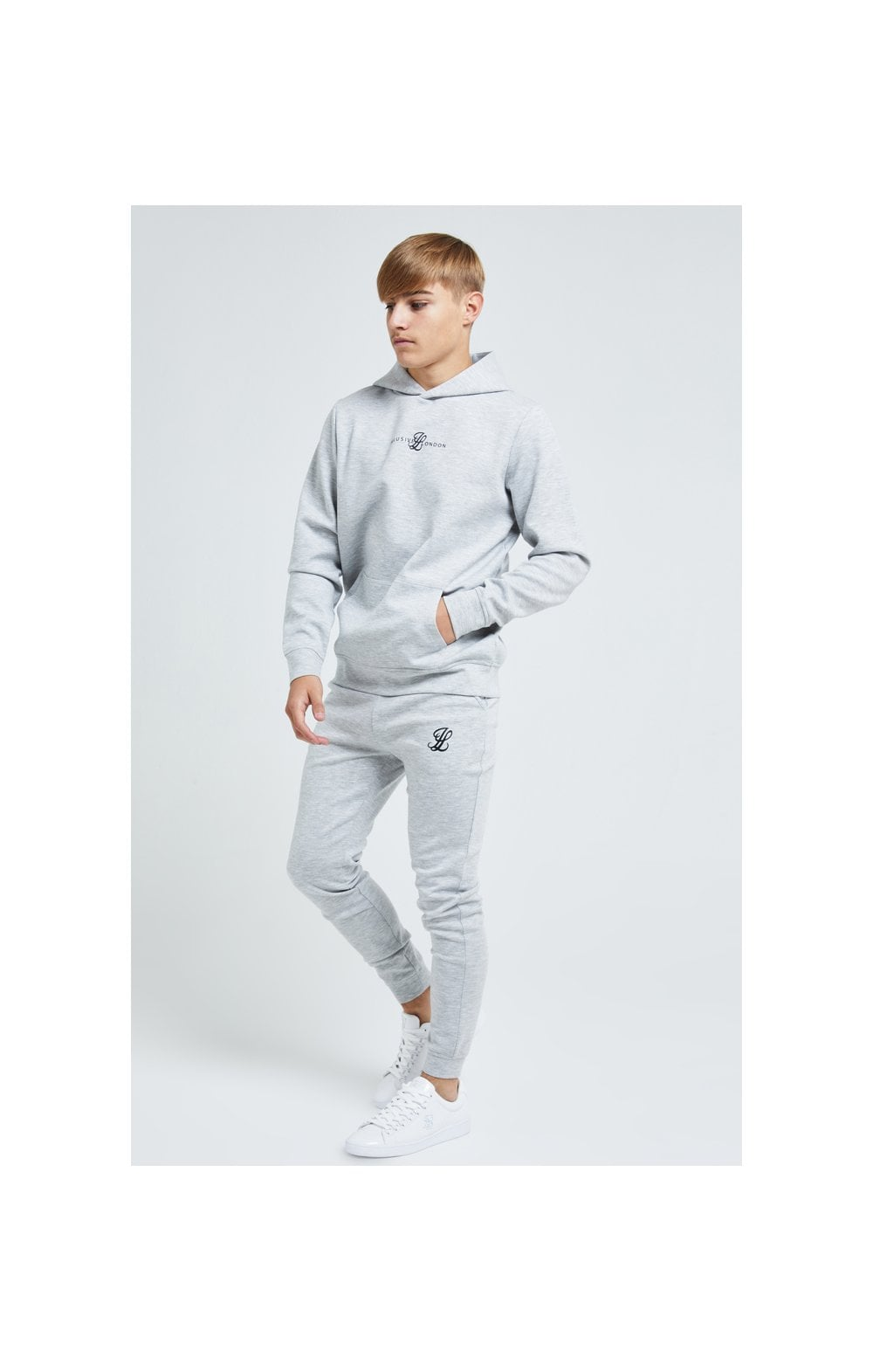 Load image into Gallery viewer, Illusive London Dual Overhead Hoodie - Grey (3)