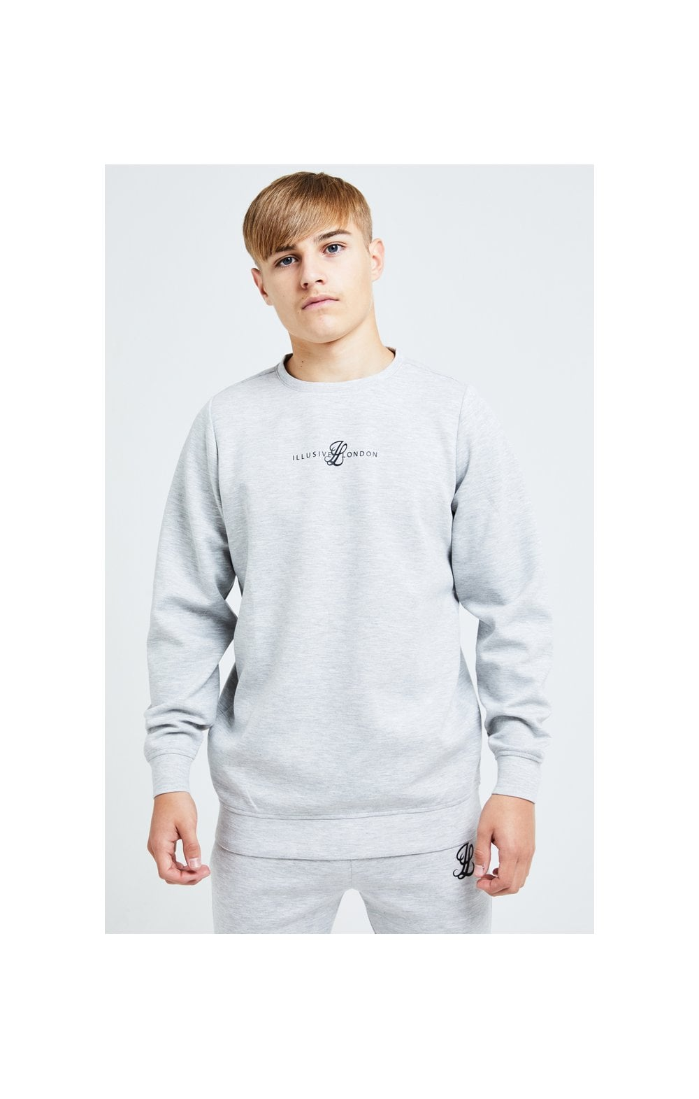Illusive London Dual Crew Sweater - Grey