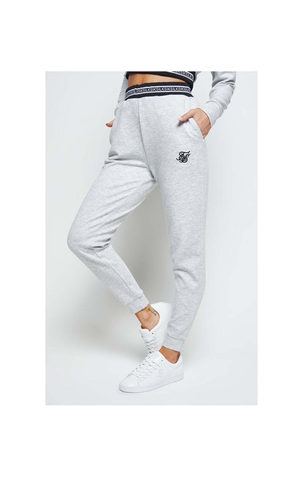 SikSilk Element Track Pants - Grey Marl