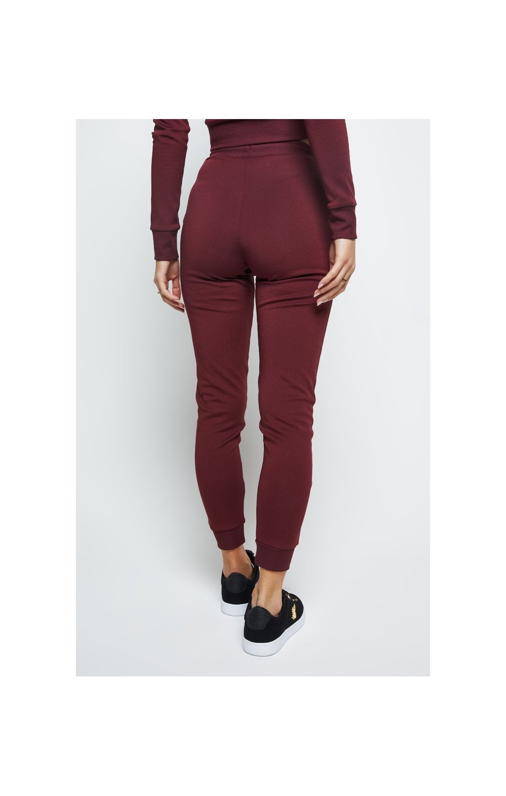 Load image into Gallery viewer, SikSilk Eyelet Mesh Track Pants - Burgundy (5)