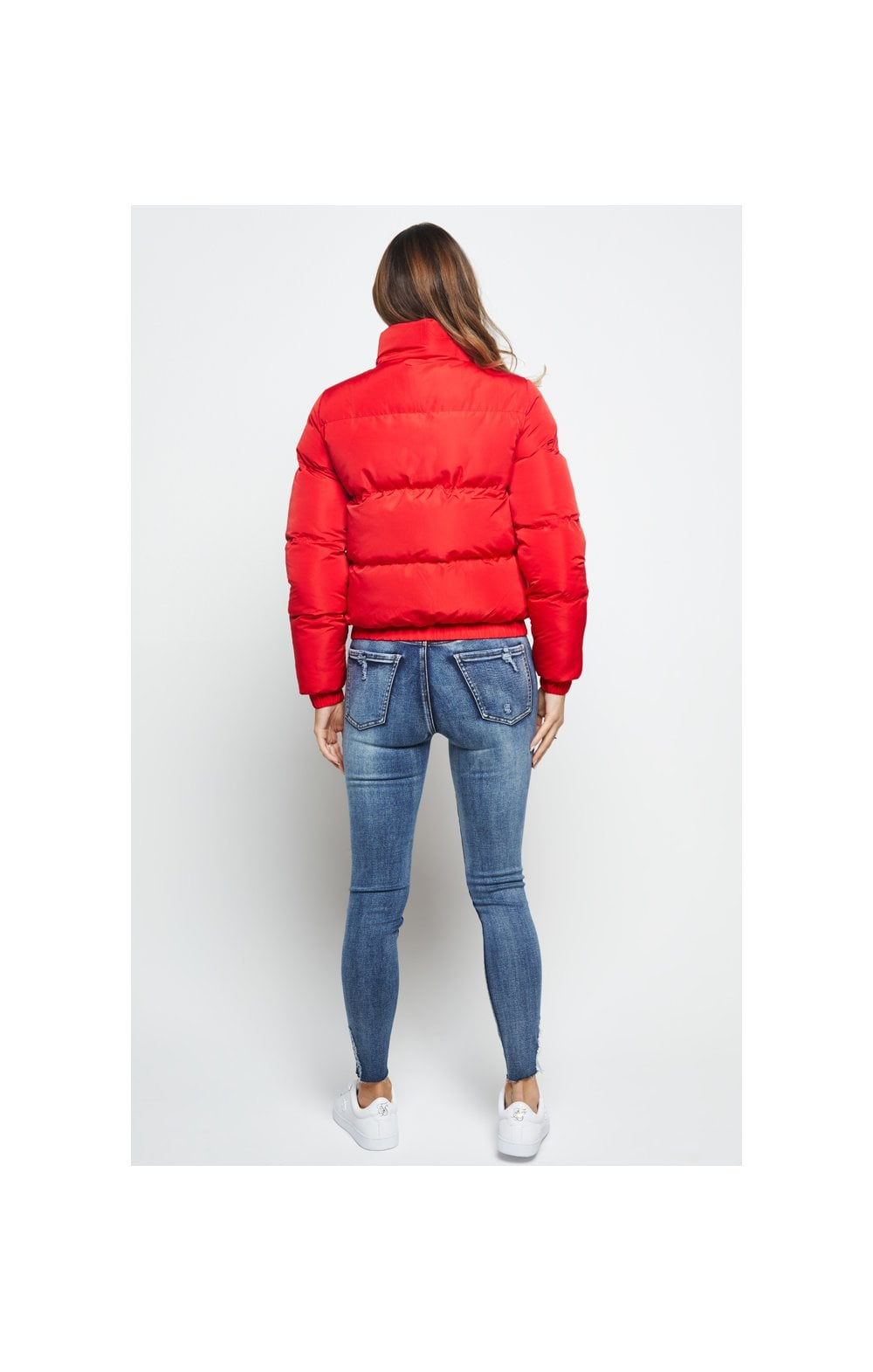 SikSilk Padded Crop Jacket - Red (5)