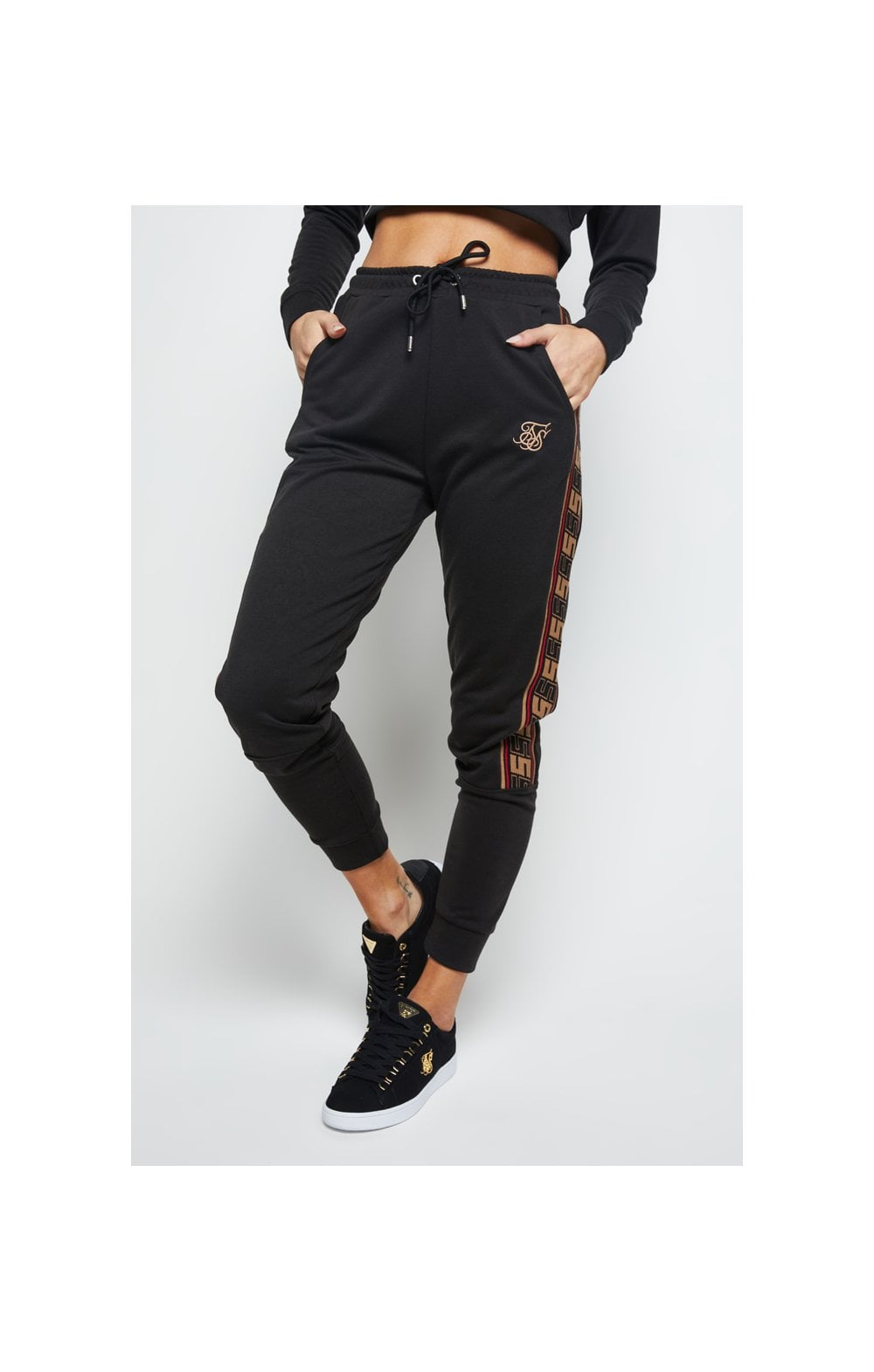 SikSilk Distinction Track Pants - Black (1)