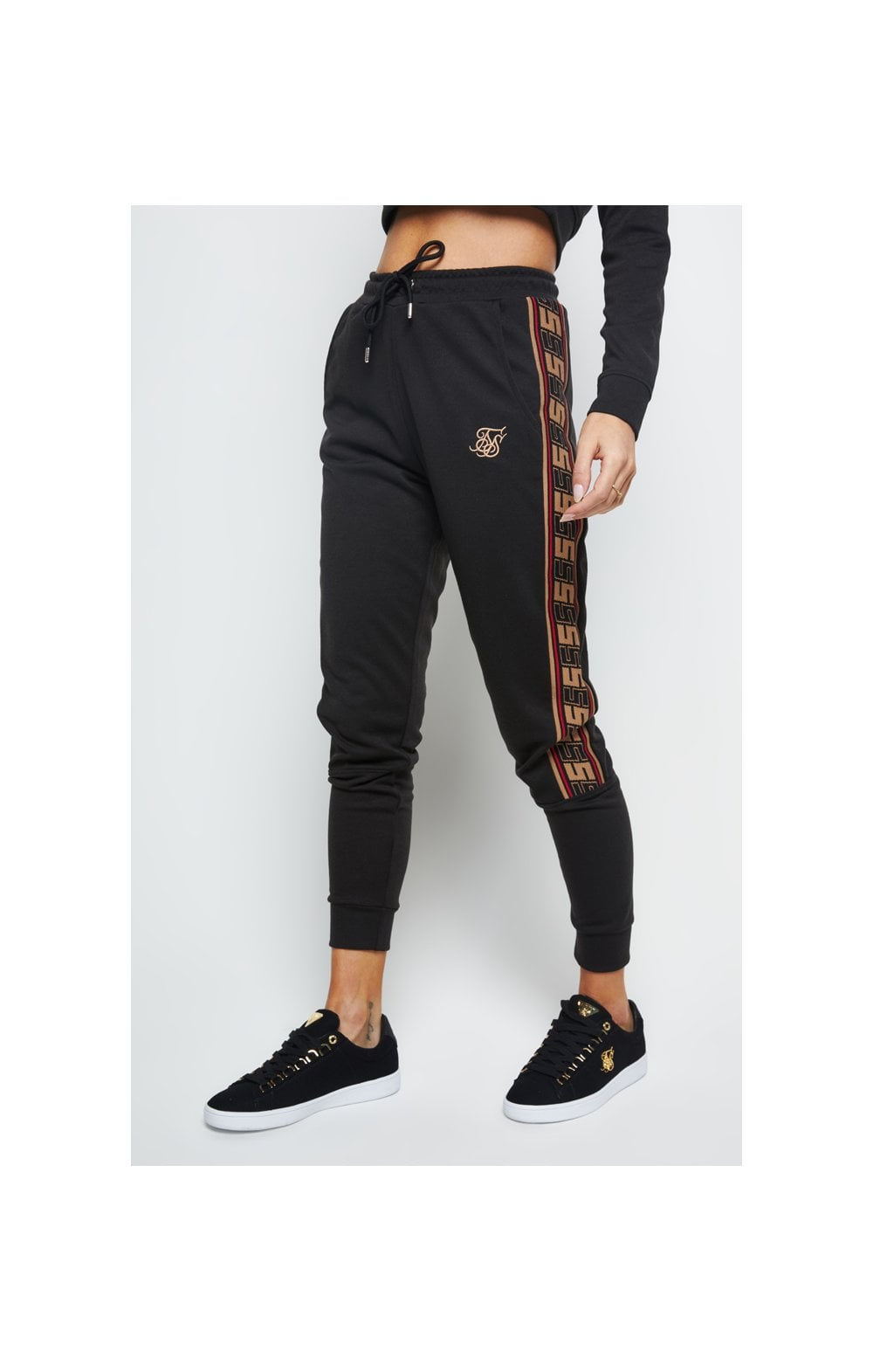 SikSilk Distinction Track Pants - Black (2)