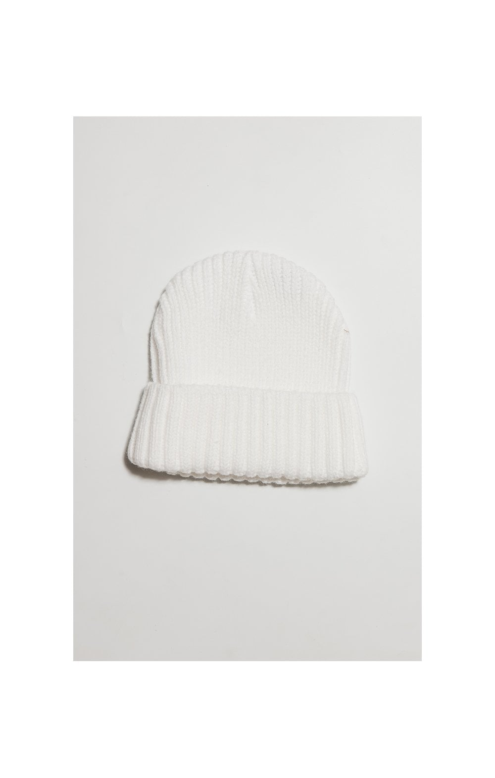 Load image into Gallery viewer, SikSilk Rib Cuff Beanie - White & Gold (1)