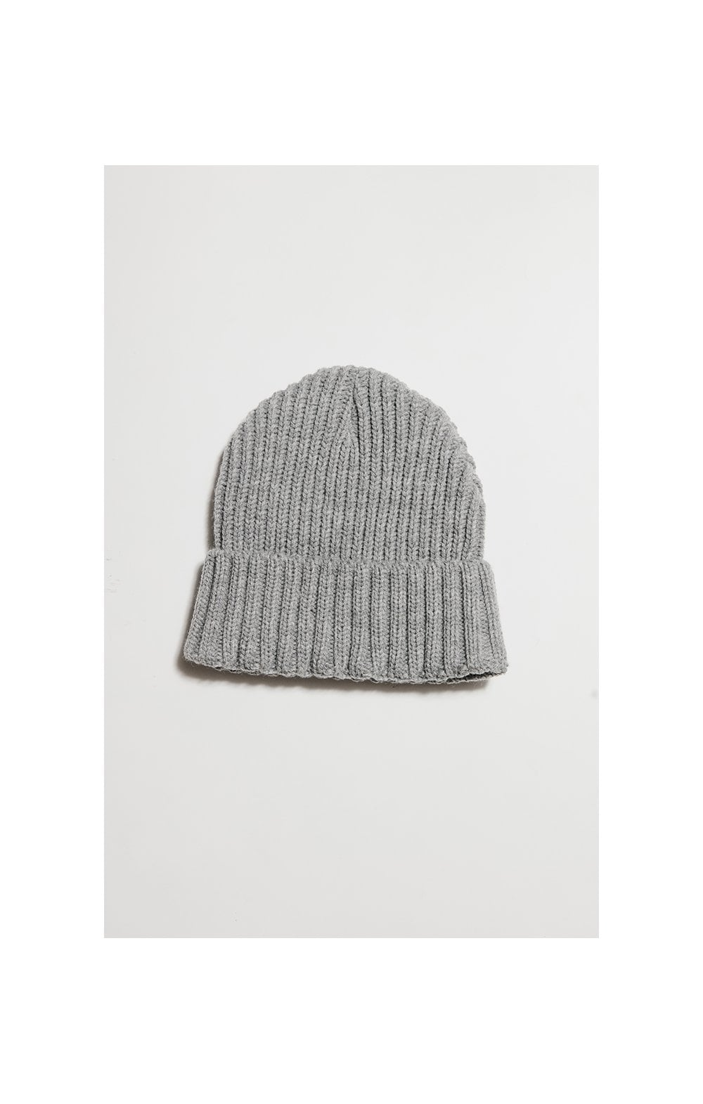 Load image into Gallery viewer, SikSilk Rib Cuff Beanie - Grey Marl & Gold (1)