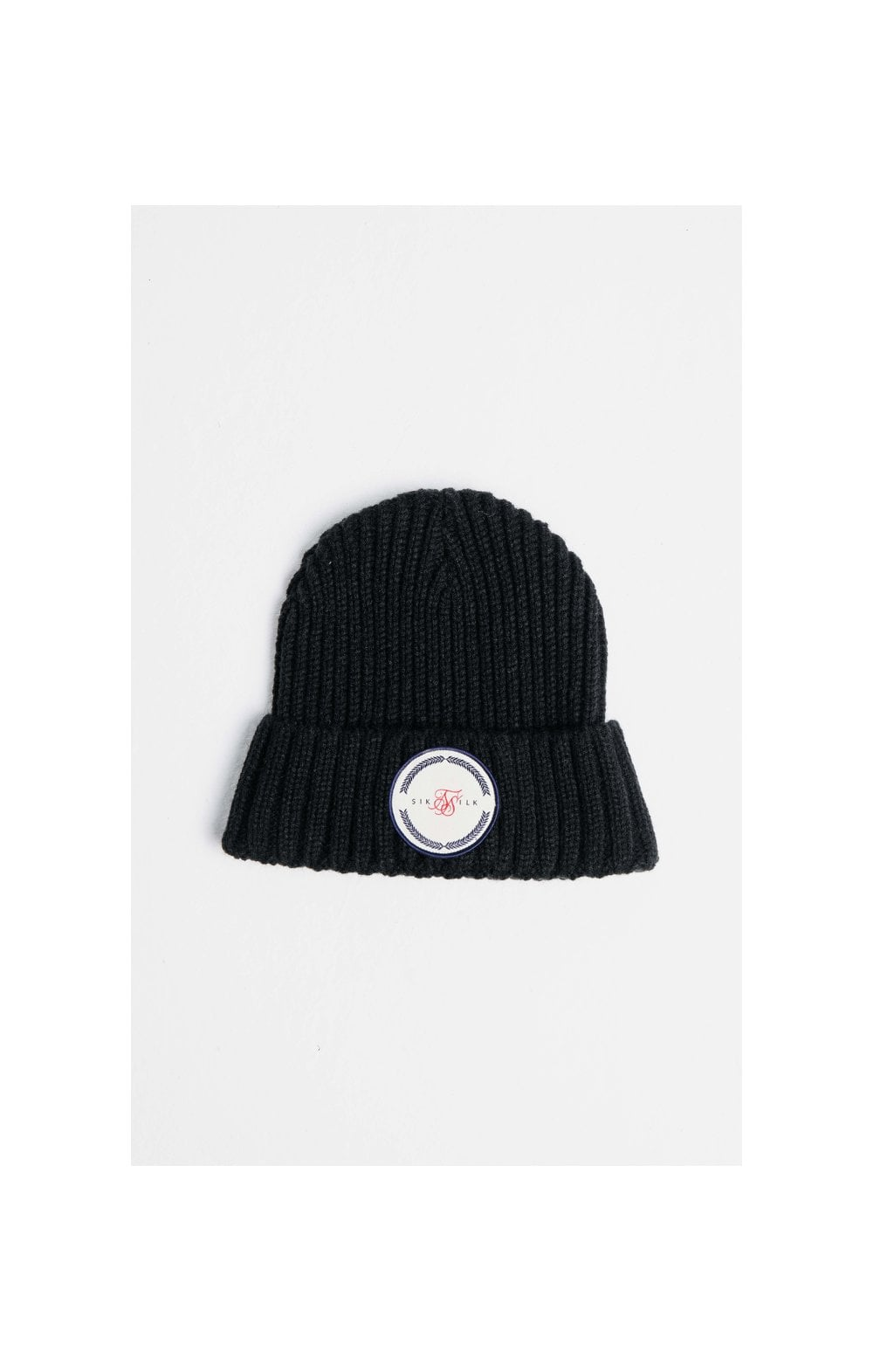 Load image into Gallery viewer, SikSilk Rib Cuff Beanie - Black