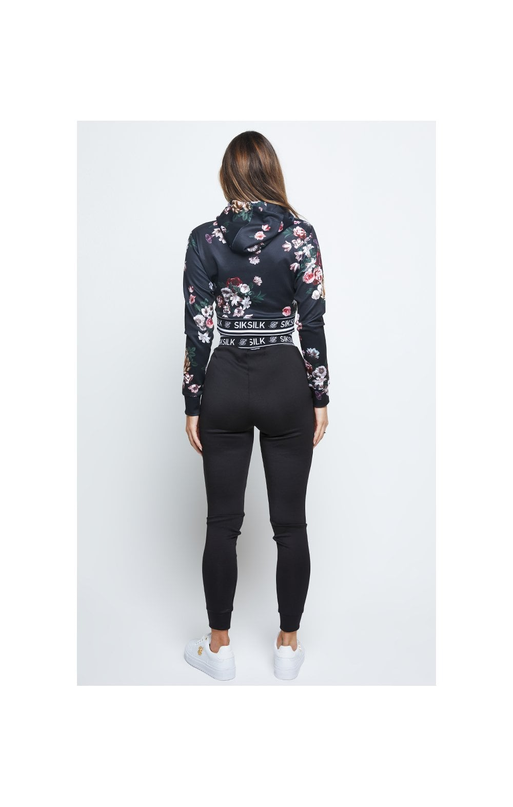 Load image into Gallery viewer, SikSilk Prestige Floral Track Top - Black (4)