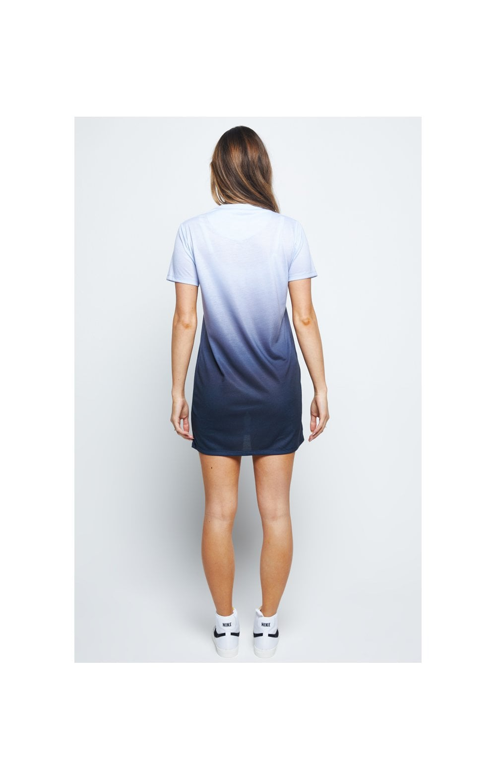 SikSilk Gravity Fade Tee Dress - Navy & Grey (3)