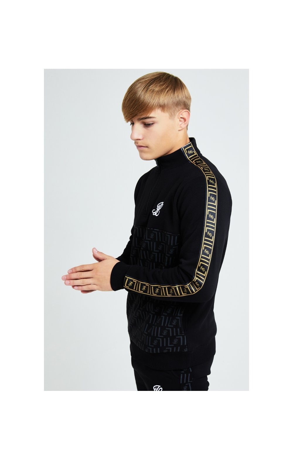 Load image into Gallery viewer, Illusive London Elite Quarter Zip - Black