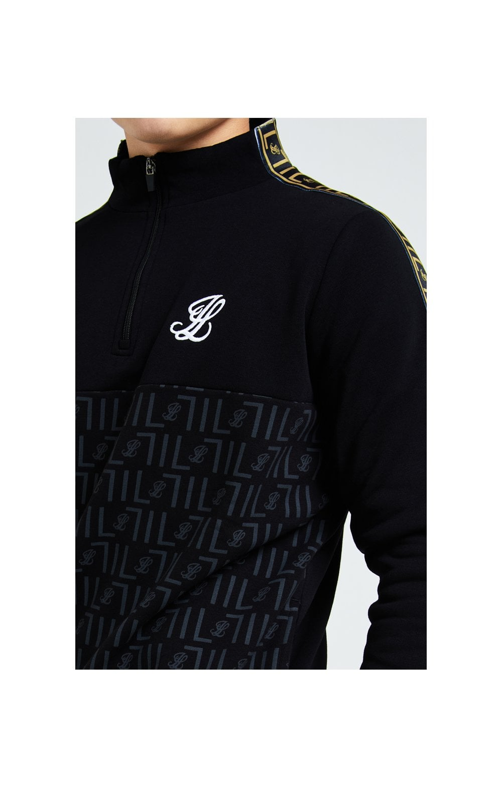 Load image into Gallery viewer, Illusive London Elite Quarter Zip - Black (1)