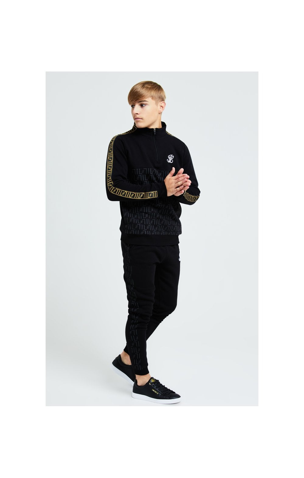 Load image into Gallery viewer, Illusive London Elite Quarter Zip - Black (2)