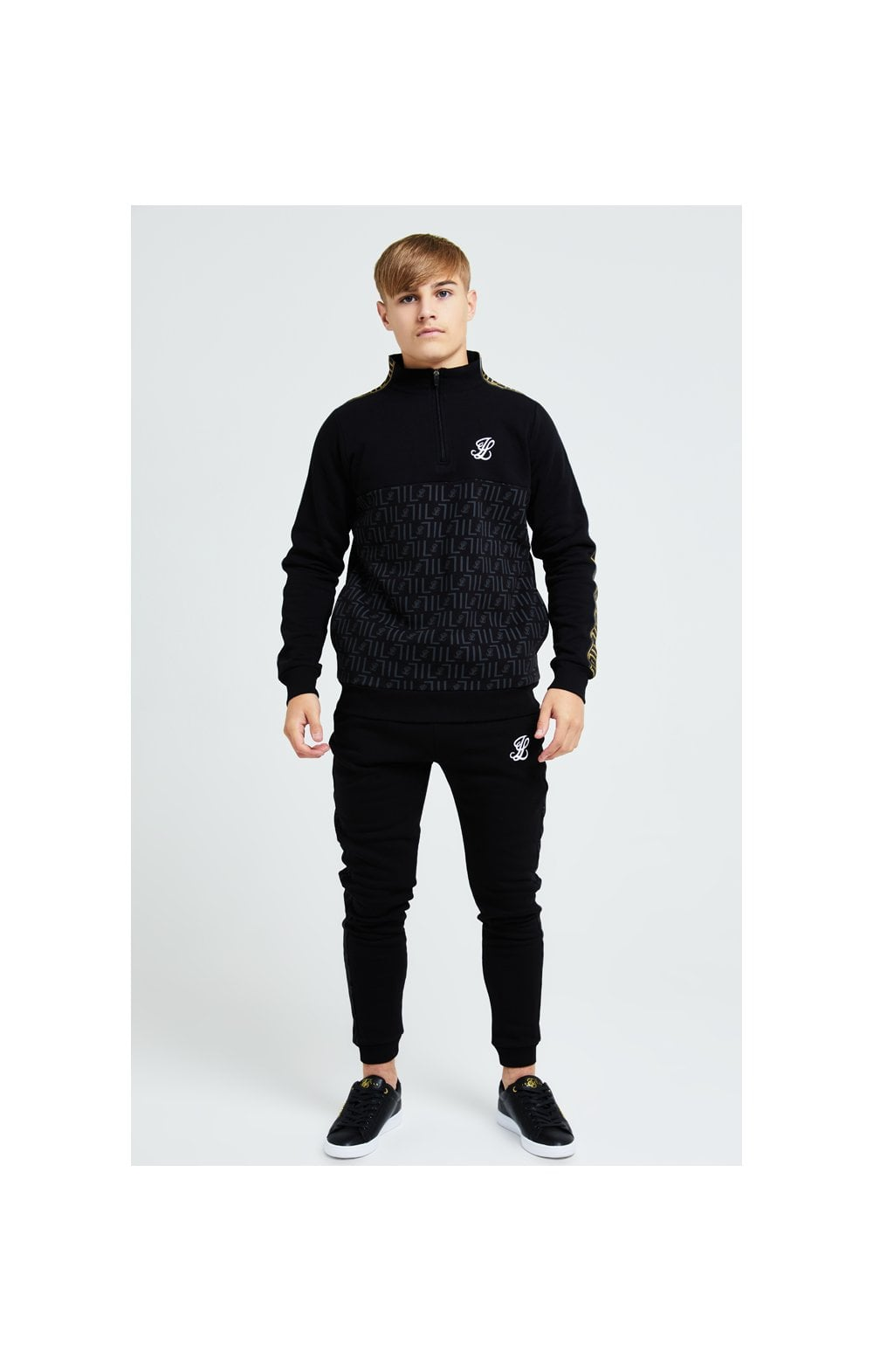 Load image into Gallery viewer, Illusive London Elite Quarter Zip - Black (5)