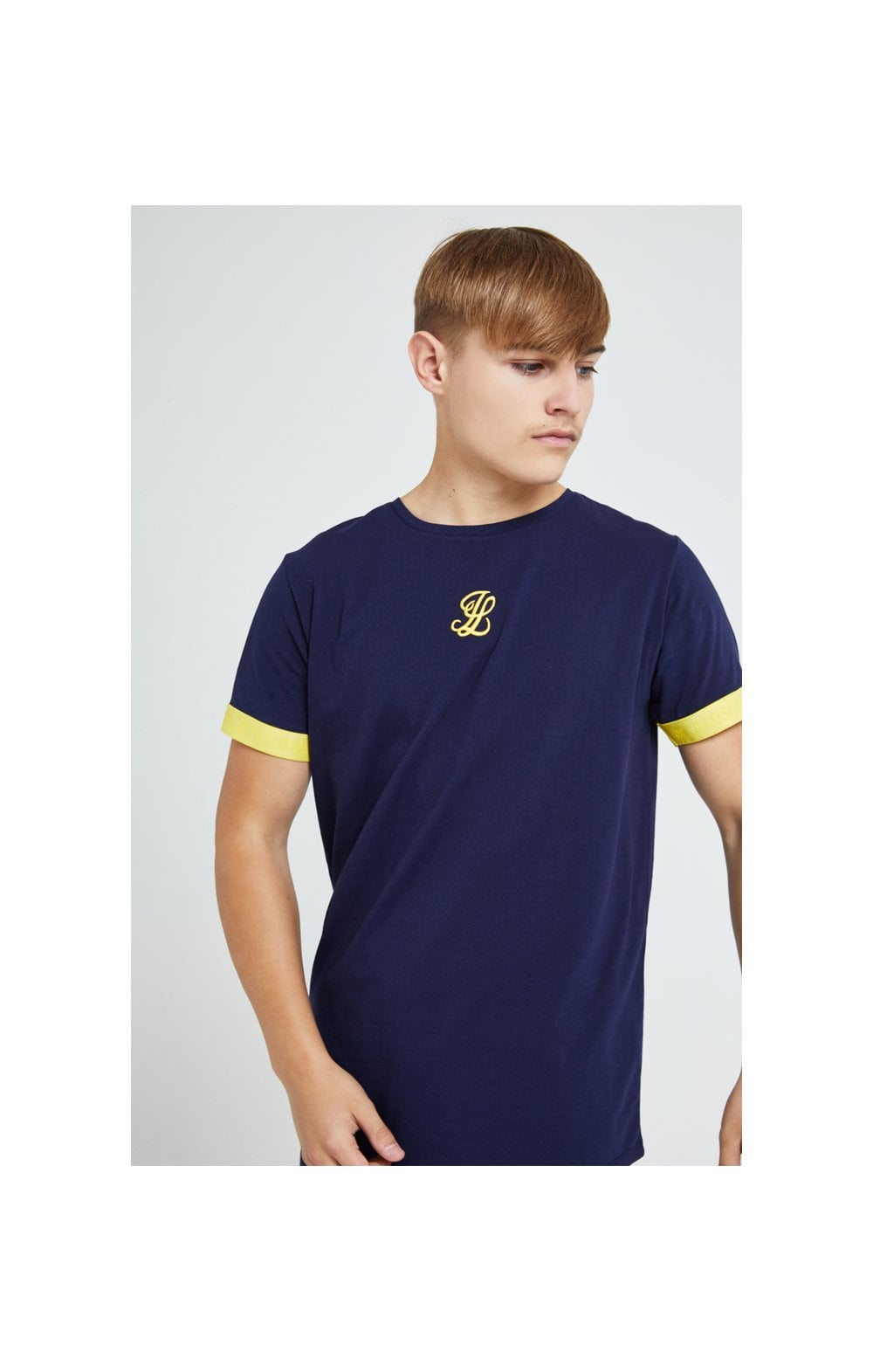 Illusive London Element S/S Tech Tee - Navy Gold & Yellow