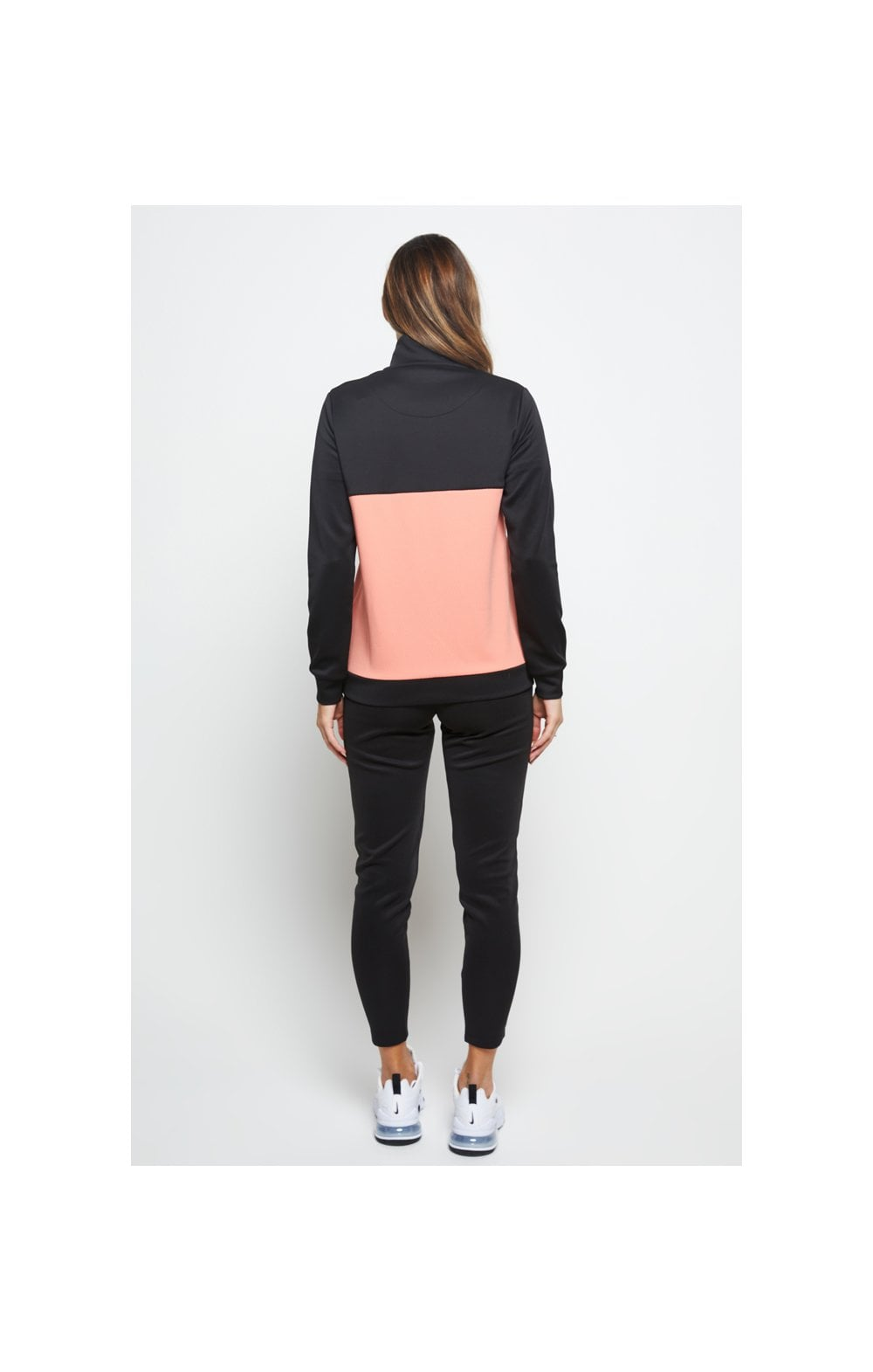 SikSilk Duality Quarter Zip Track Top - Black & Coral (6)